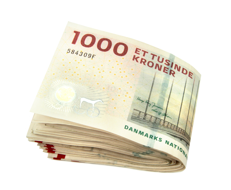 Danish krone close up image Archivio Fotografico