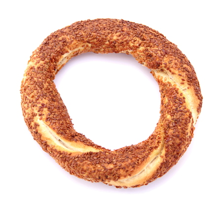 Turkish traditional sesame bagel  免版税图像