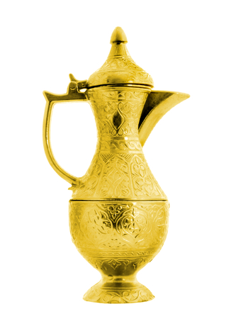 Turkish ottoman style golden pitcher  photo