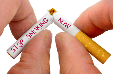 quit: Stop smoking now Stock Photo