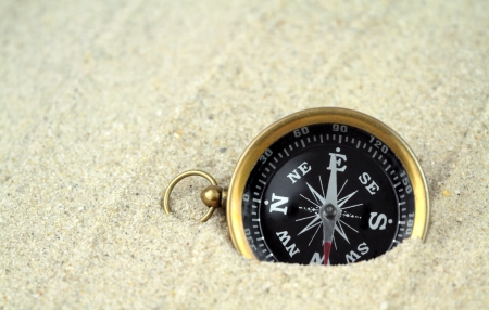 Compass, close up photo