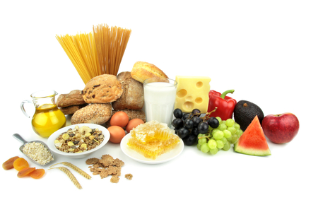 Vaus foods, isolated on white background   Stock Photo - 22950478
