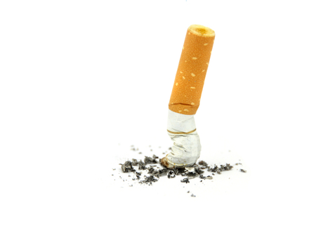 Cigarette butts  Stop smoking concept  Archivio Fotografico