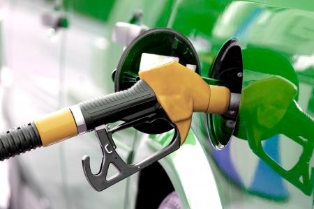 ガソリン ポンプ 写真素材