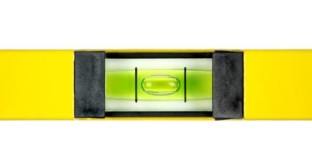 water level: Yellow spirit level  Close up image