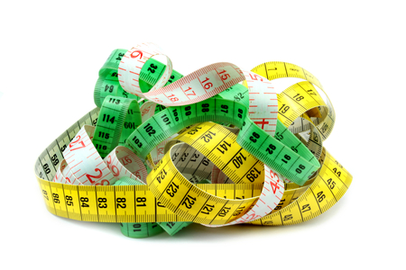 made to measure: Various tape measure on white background