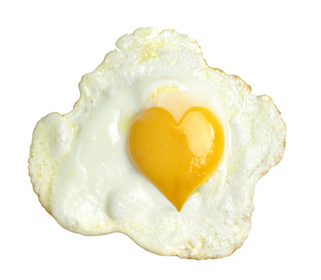 Fried egg with heart form yolk