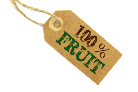 Fruit content label photo