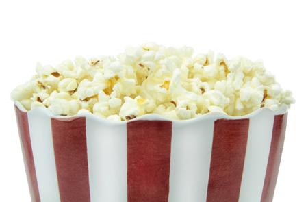 popcorn bowls:  Popcorn, close up image