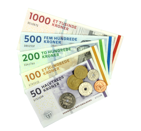 paper currency: Danish kroner   DKK  , coins and banknotes