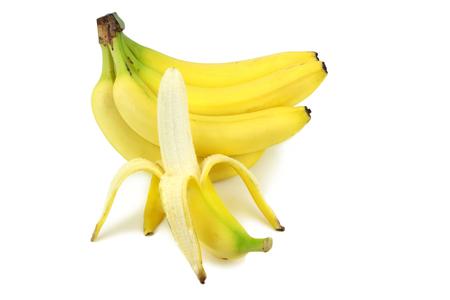 peeled banana: Bananas and peeled banana Stock Photo