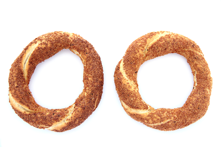 Turkish traditional sesame bagels  - Simit - photo