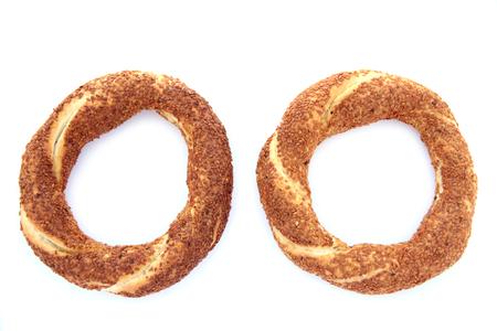 turkish bread: Turkish traditional sesame bagels  - Simit -