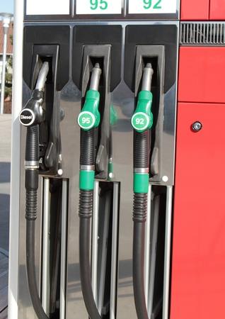 benzin: Gas station pumps