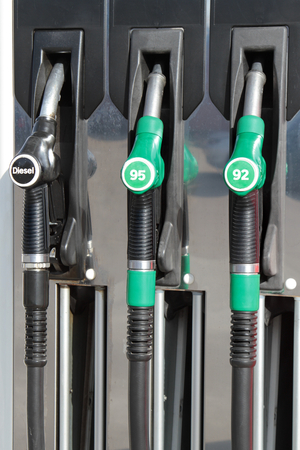 benzin: Fuel pumps Stock Photo