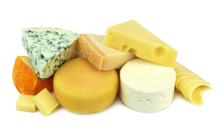 chees: Various cheese isolated on white background