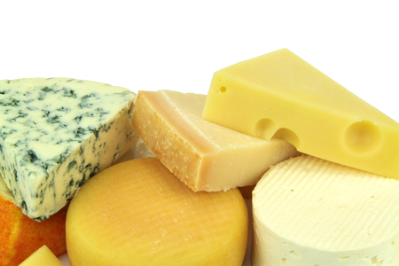 emmental: Various cheeses Stock Photo