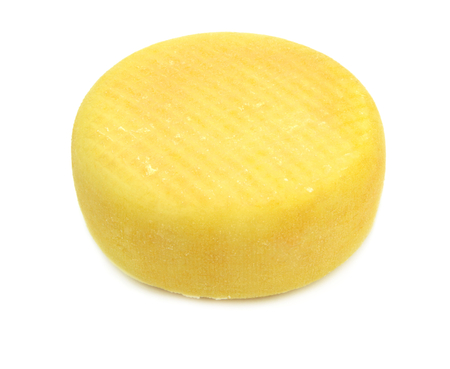 rind: Cheese on white background