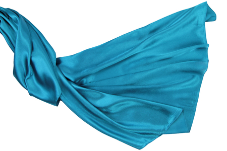 rippling: Turquoise rippling silk fabric Stock Photo