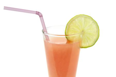 jugo de frutas: Jugo de frutas ex�ticas, sobre fondo blanco