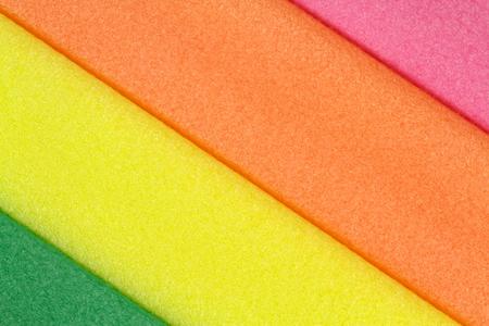 styrofoam: Colorful foam rubber