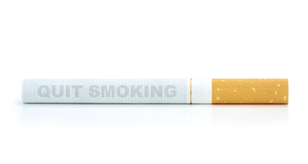 quit: Quit smoking text on cigarette