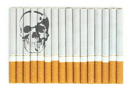 smoking kills: Smoking kills, Conceptual image with skull on cigarettes Stock Photo