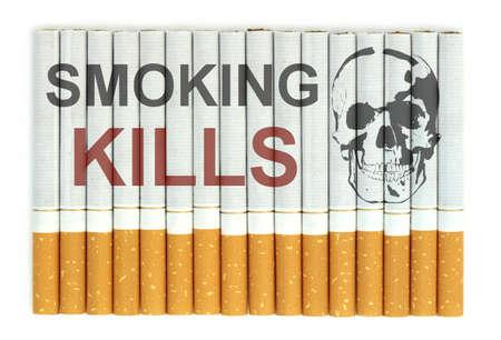 Smoking kills word on cigarettes Stock Photo