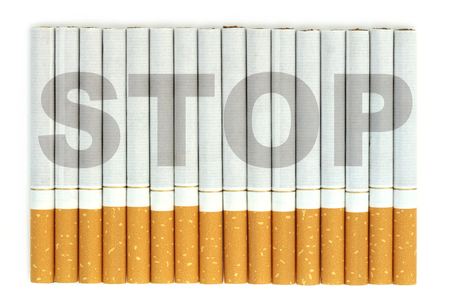 quit smoking: Stop word on cigarettes