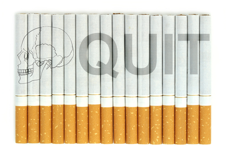 quit: Quit word on cigarettes