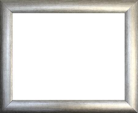 silver frame: Plain silver  picture frame on black background