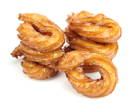 favored: Turkish doughnuts or traditional ring sweetisolated on white background Stock Photo