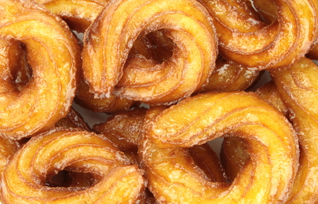 turkish delight: Turkish doughnuts or traditional ring sweet close up image