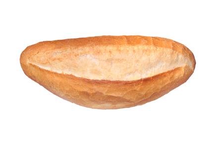 turkish bread: Traditional Turkish bread. ( Somun bread ) Isaolated on white Stock Photo