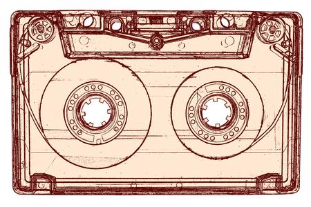 audio cassette: Audio cassette isolated on white Stock Photo