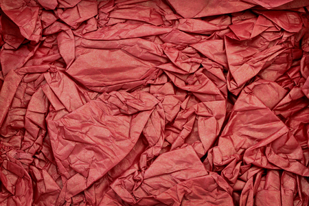 rumple: Wrinkled red paper as background Stock Photo
