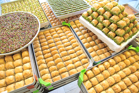 Delicious Turkish sweets and baklava