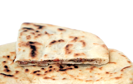 ground beef: Turkish pancake with ground beef - Gozleme Stock Photo
