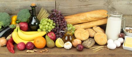 Varios alimentos Foto de archivo