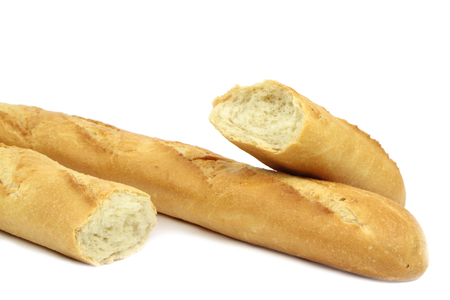 pone: Baguette on white background