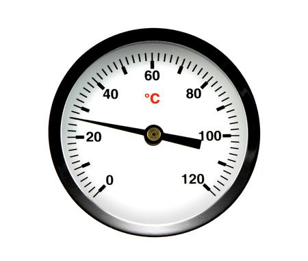 temp: Thermometer, ( illustration ) Stock Photo