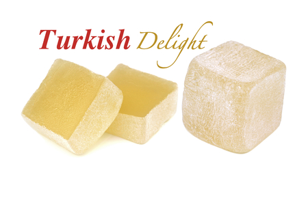 delight: Turkish delight isolated on white background