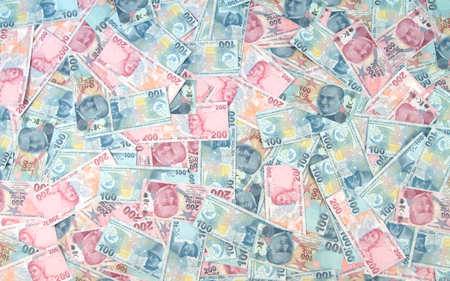 turkish lira: Turkish Lira banknotes   Stock Photo