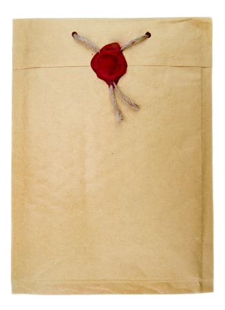sellos: Top correo secreto con la cuerda y el sello de la cera Foto de archivo