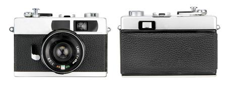 Retro camera isolated on white background 스톡 콘텐츠