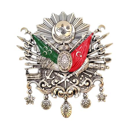 Ottomaanse Rijk Emblem, Oude Turkse Symbol Stockfoto