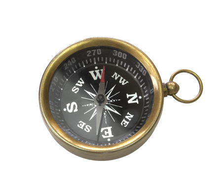 Compass isolated on white background Banque d'images
