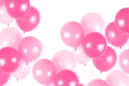 Pink party balloons Banque d'images