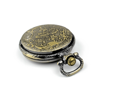 puntualidad: Antiguo reloj de bolsillo antiguo Foto de archivo