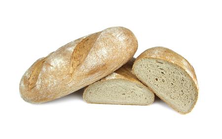 campesino: Peasant bread isolated on white Foto de archivo